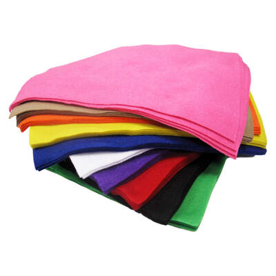 Gompels Assorted Felt Sheets A4 40