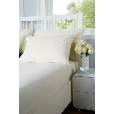 Everyday Single Fitted Sheet 91cm x 191cm - Colour: Ivory