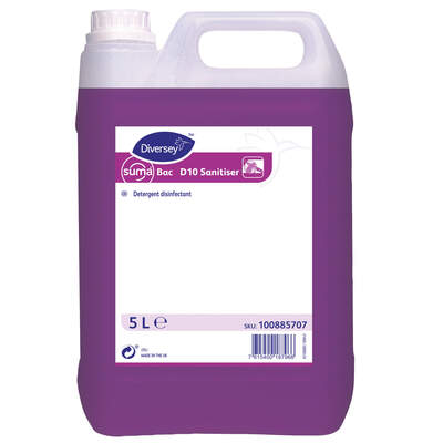 Suma Bac D10 Sanitiser 5 Litre 2 Pack