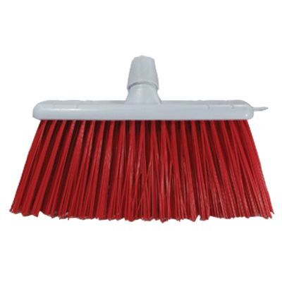 Stiff Broom Head 300mm Long Trim - Colour: Red