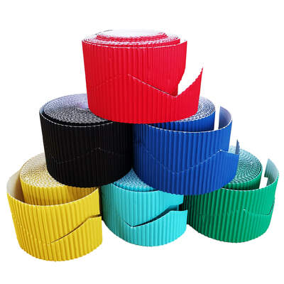Border Rolls Zig Zag Assorted 10cm x 15m 6 Pack