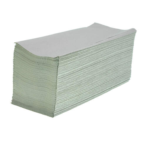 V Fold Recycled Paper Hand Towels Natural 1ply 5000