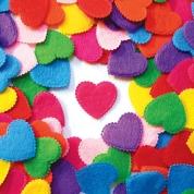 Felt Heart Shapes Assorted 100 Pack