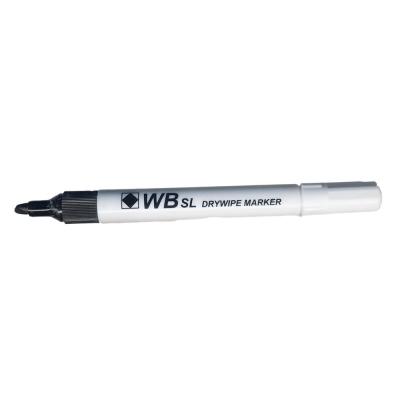 Drywipe Markers Black 100 Pack