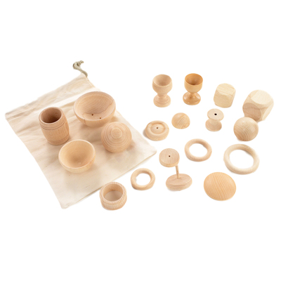 Assorted Wooden Treasure Basket Collection
