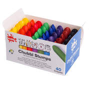 Chubbi Stumps Crayons 8 Assorted Colours x 40