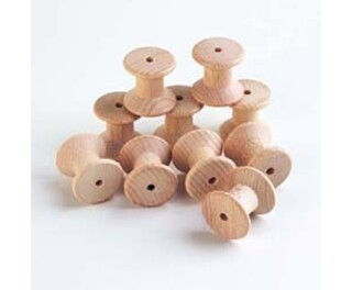 Wooden Spool Large 10 Pack