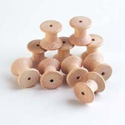 Wooden Spool Large 10 Pack Gompels Healthcare