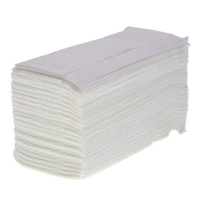 Z Fold White Paper Towels 1ply 3000