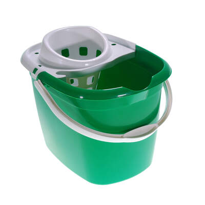 Plastic Mop Bucket 15 Litre - Colour: Green