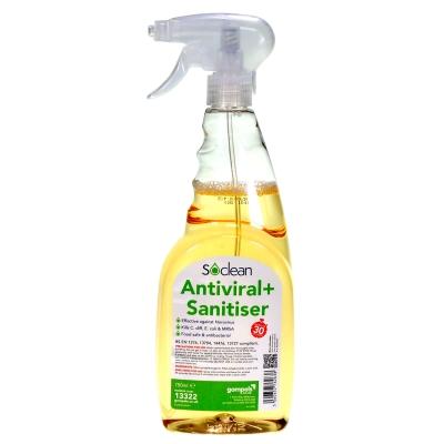 Soclean Antiviral Sanitiser 750ml 6 Pack