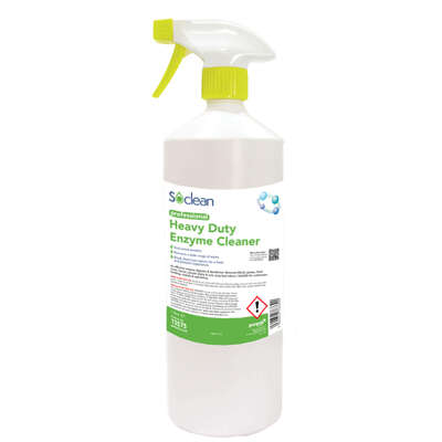 Soclean Heavy Duty Enzyme Cleaner 1 Litre 6 Pack