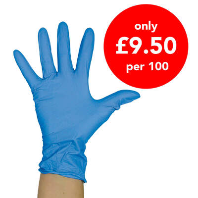 PHE Nitrile Gloves Powder Free Medium 2000