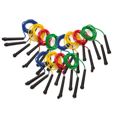 Skipping Ropes 2.2m Assorted 12 Pack