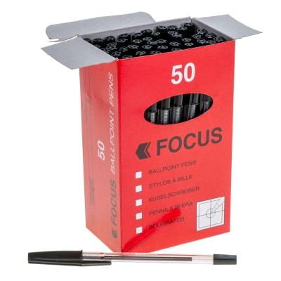 Medium Ballpoint Pen 50 Pack - Colour: Black