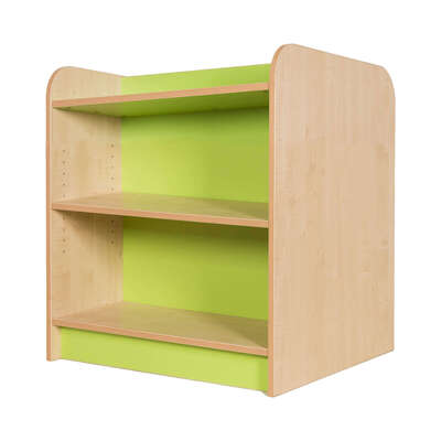 Kubbyclass Double Sided Bookcase Beech - Height: 750mm
