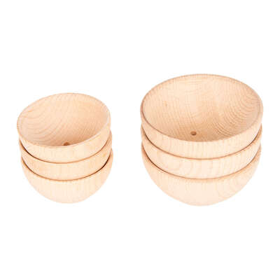 Wooden Bowl 92mm 3 Pack