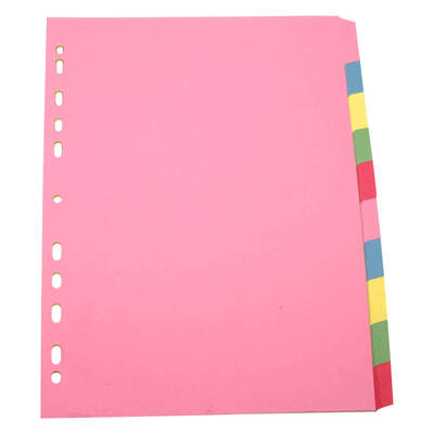 Subject Divider A4 10 Pack