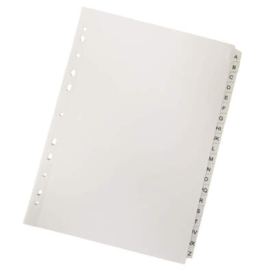 Subject Dividers A-Z Mylar Tabs