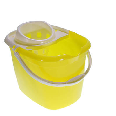 Plastic Mop Bucket 15 Litre - Colour: Yellow