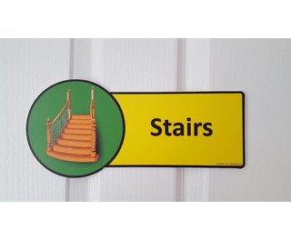 Premium Stairs Sign