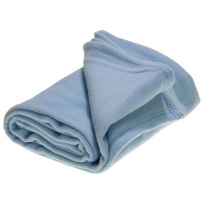 Pram Micro Fleece Blanket Blue 75 x 100cm