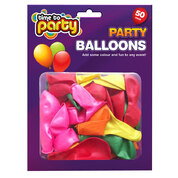 Balloons Assorted 50 Pack