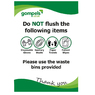 Do Not Flush Sign A5 Wipe Clean
