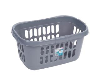 Laundry Basket Silver