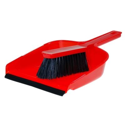 Dustpan & Brush Set - Colour: Red