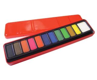 12 Block Watercolour Paint Set