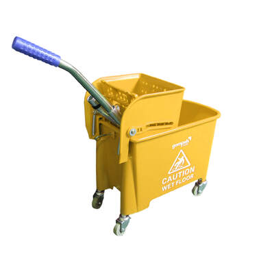 Soclean Mop Bucket With Wringer 20l - Colour: Yellow