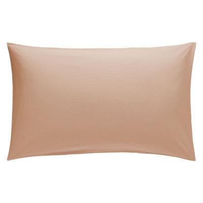 Pillow Case Pair 50cm x 75cm - Colour: Coffee