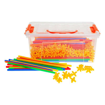 Construction Straws and Connectors 400 Pieces