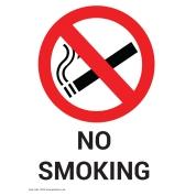 No Smoking Non Marking Adhesive Sign A5