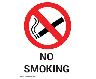 No Smoking Non Marking Adhesive Sign A5
