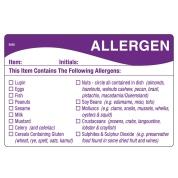 Removable Allergen Food Prep Label 51 x 76mm 500