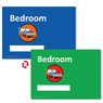 Only £1 A4 Personalised Bedroom Sign Blue