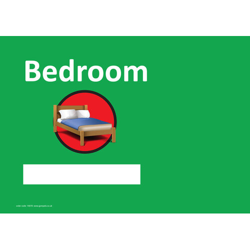 Dementia Sign Personalised Bedroom A4 Gompels Healthcare