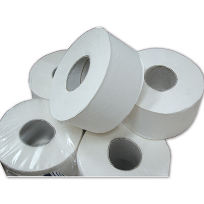 Gompels Mini Jumbo Toilet Rolls 60mm Core 2ply 12 Pack