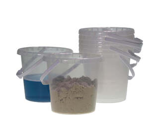 Water/Sand Buckets Clear 8 Pk