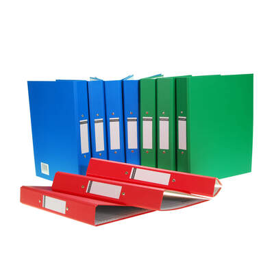 A4 Ring Binder Assorted 10 Pack