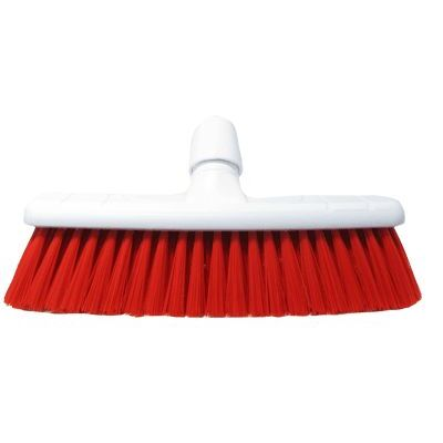 "Soft Sweeping Broom Head 12"" - Colour: Red"