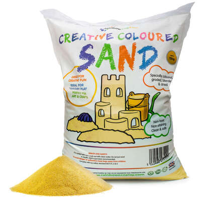 Coloured Play Sand 15kg - Colour: Yellow