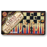 3 in 1 Chess, Draughts and Backgammon Set