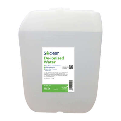 Soclean De-Ionised Water 20 Litre