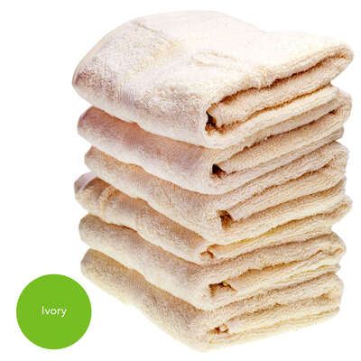 Hand Towel 50x90cm 500gm x 6 - Colour: Ivory