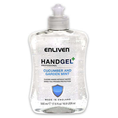 Enliven Alcohol Hand Gel Cucumber and Mint 500ml