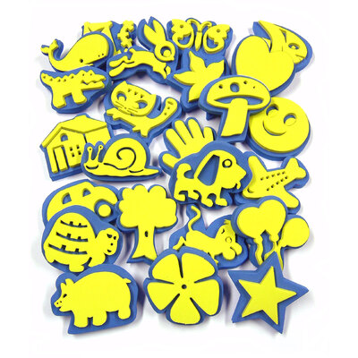 Crafty Foam Paint Stamps Assorted Pack 24