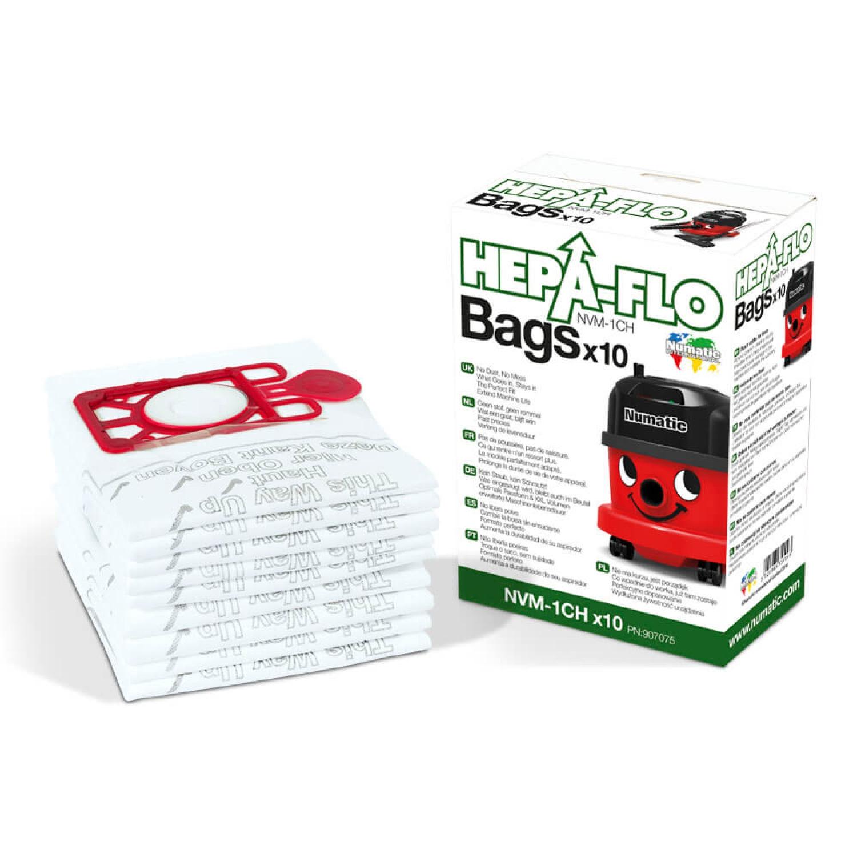2 x 10 pack Numatic Hepa Flo NVM-1CH Henry Vacuum Filter Bags